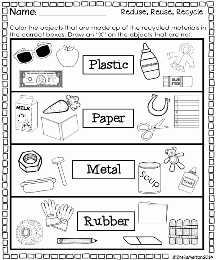 Recycling Worksheets for Preschoolers Printable Reduce Reuse Recycle Kids Bing Images