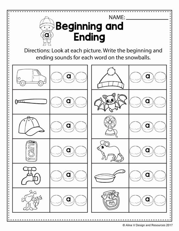 Rhyming Worksheets for Preschoolers Kids Free Winter Literacy Worksheet for Kindergarten No Prep
