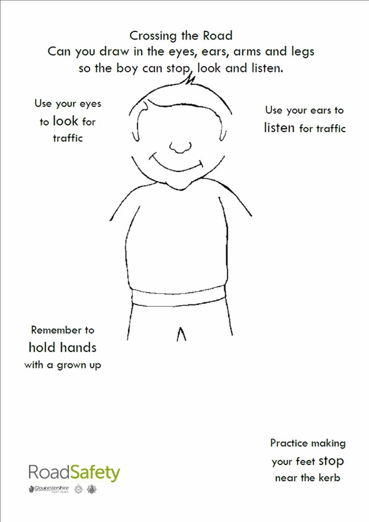 Road Safety Worksheets for Preschoolers Ideas Crossing the Street