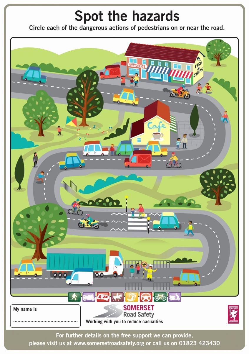 Road Safety Worksheets for Preschoolers Kids Key Stage 1 and 2 Activity Sheets
