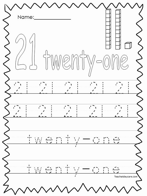 Rote Counting Worksheets for Preschoolers New 10 Printable Numbers 21 30 Tracing Worksheets