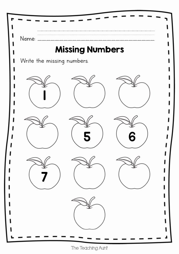 Rote Counting Worksheets for Preschoolers top Free Missing Numbers Worksheets the Teaching Aunt