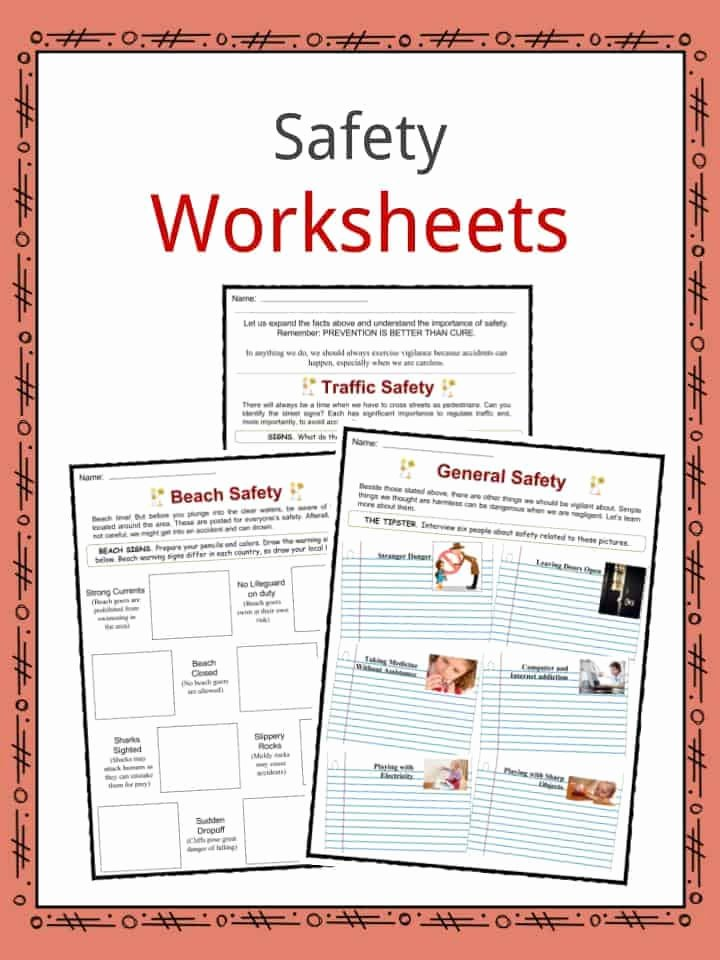 Safety Worksheets for Preschoolers Inspirational Safety Facts Worksheets & General Advice and Information