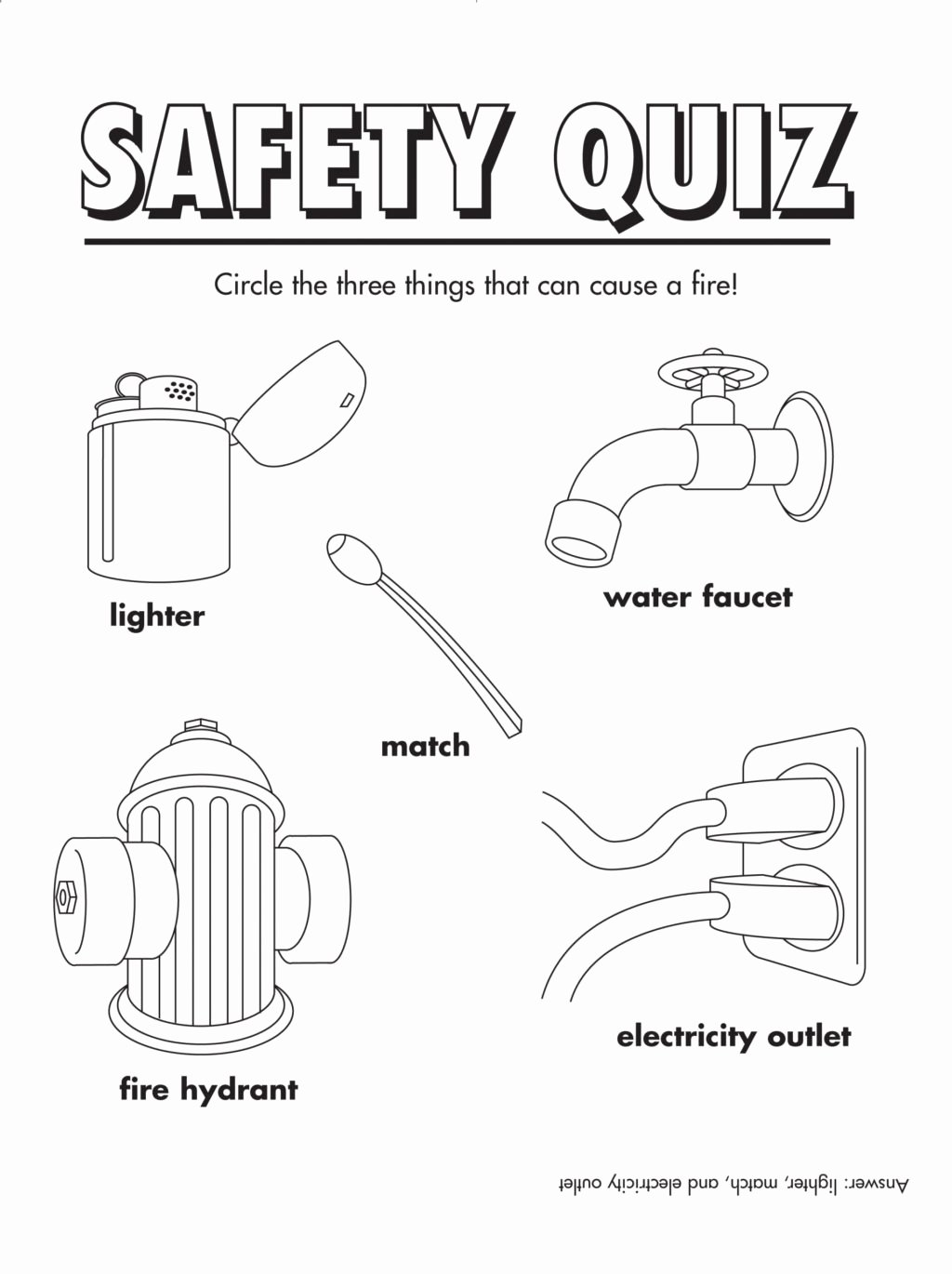 Safety Worksheets for Preschoolers Kids Worksheet Coloring Pages Fire Safety Book Printable