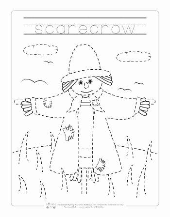Scarecrow Worksheets for Preschoolers Inspirational Fall Tracing Worksheets Itsybitsyfun
