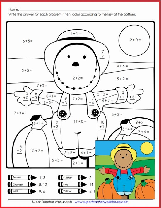 Scarecrow Worksheets for Preschoolers New Scarecrow Math Super Teacher Worksheets Equation Website