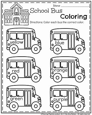 School Bus Worksheets for Preschoolers Best Of Back to School Preschool Worksheets Planning Playtime