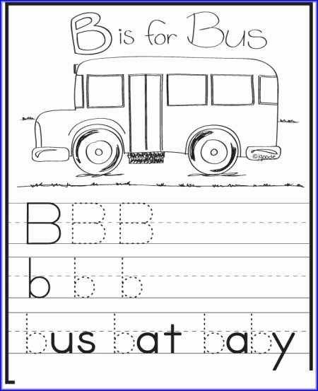School Bus Worksheets for Preschoolers Fresh B is for Bus Worksheet Kindergarten