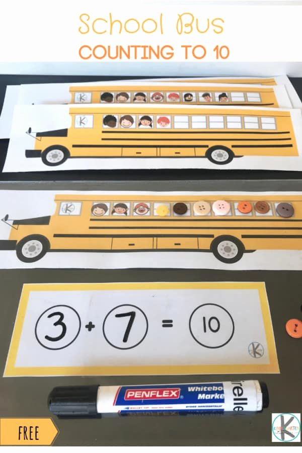 School Bus Worksheets for Preschoolers Kids Free School Bus Games Counting to 10