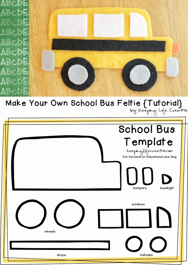 School Bus Worksheets for Preschoolers Printable Printable School Bus Craft Template