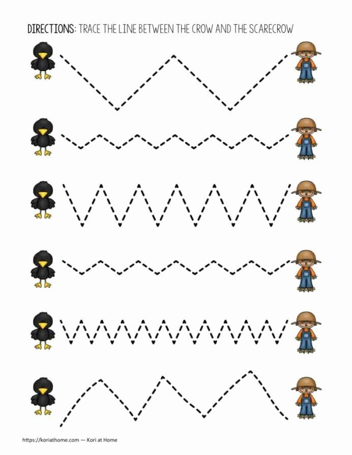 Scissor Cutting Skills Worksheets for Preschoolers Fresh Fine Motor Cutting Control Practice Printable Scissors