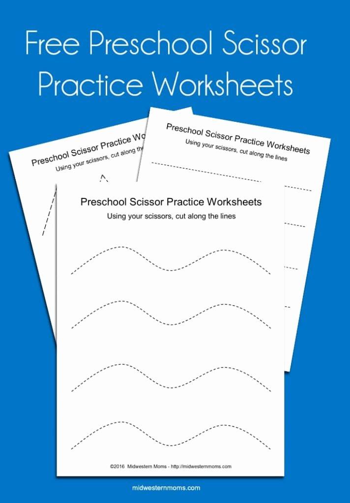 Scissor Cutting Skills Worksheets for Preschoolers Printable Preschool Scissor Practice Worksheets