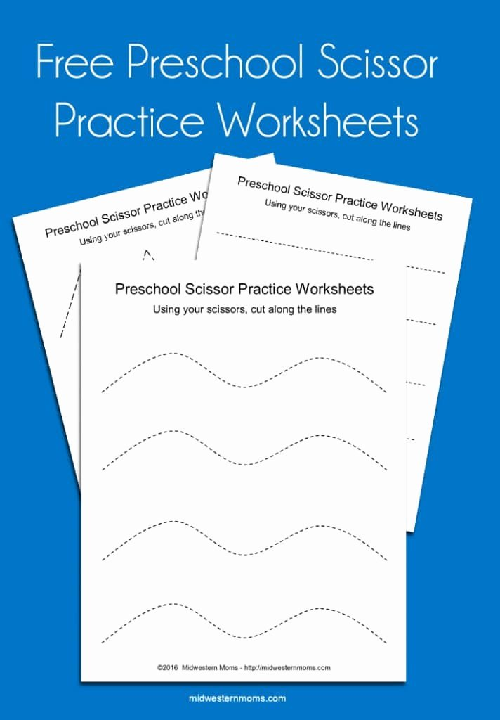 Scissor Cutting Worksheets for Preschoolers Lovely Preschool Scissor Practice Worksheets