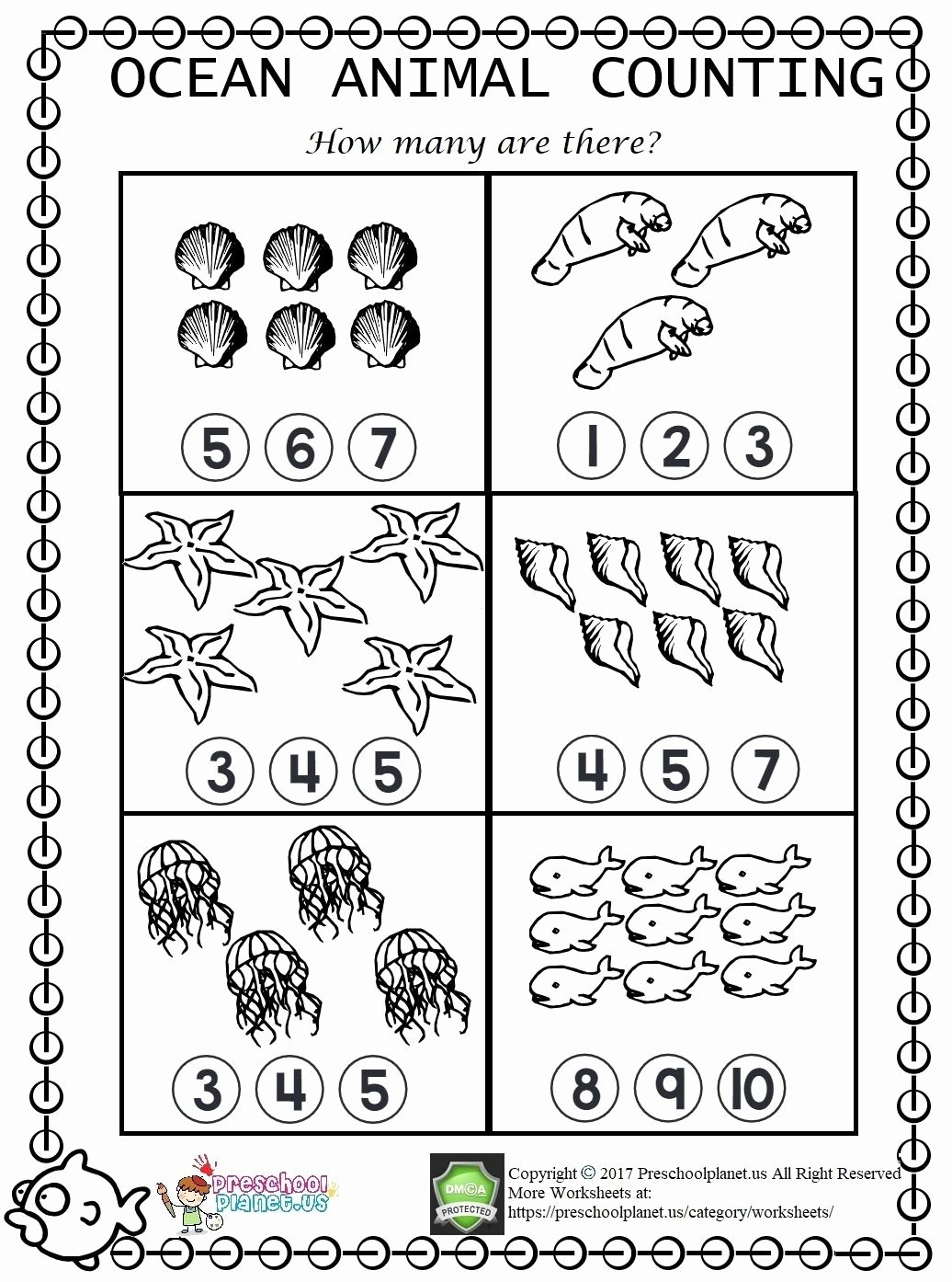 Sea Creatures Worksheets for Preschoolers Lovely Pin On Preschool Ideas