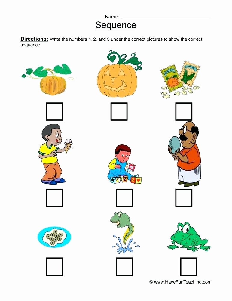 Sequencing events Worksheets for Preschoolers Free Sequencing Worksheets for Preschool – Dailycrazynews