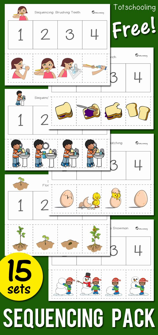 Sequencing events Worksheets for Preschoolers Printable Sequencing Activity Pack