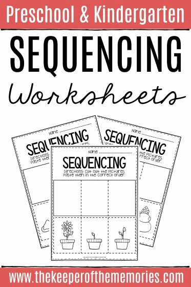 Sequencing Worksheets for Preschoolers Best Of 3 Step Sequencing Worksheets the Keeper Of the Memories