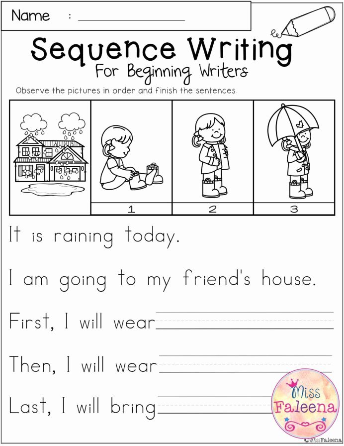 Sequencing Worksheets for Preschoolers Fresh March Sequence Writing for Beginning Writers with