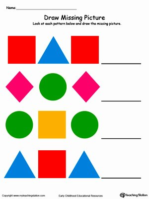 Shape Patterns Worksheets for Preschoolers Best Of Preschool Patterns Printable Worksheets