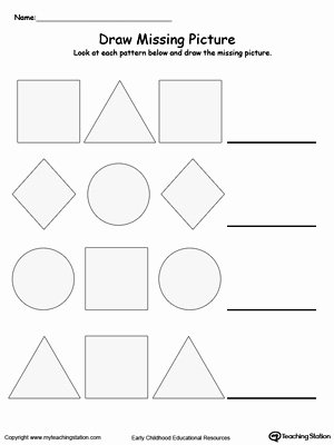 Shape Patterns Worksheets for Preschoolers Ideas Kindergarten Patterns Printable Worksheets