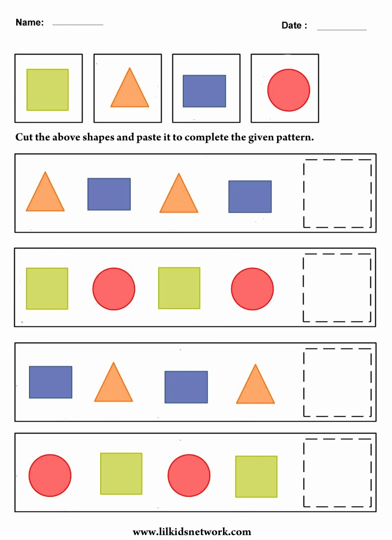 Shape Patterns Worksheets for Preschoolers Lovely Free Educational Resources and Materials for Preschoolers