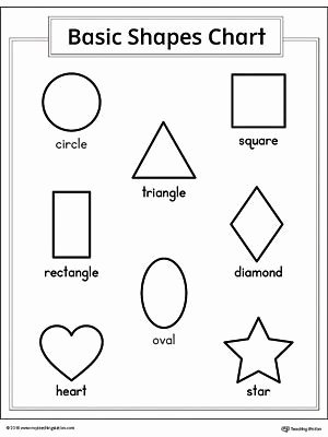 Shape Recognition Worksheets for Preschoolers Best Of Basic Geometric Shapes Printable Chart