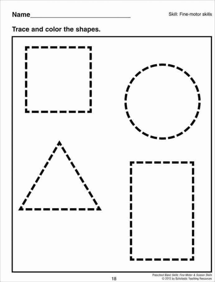 Shape Worksheets for Preschoolers Free Kids Cutting Shapes Worksheets Activity sort Shape Out Free