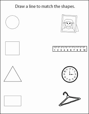 Shape Worksheets for Preschoolers Lovely Do2learn Educational Resources for Special Needs