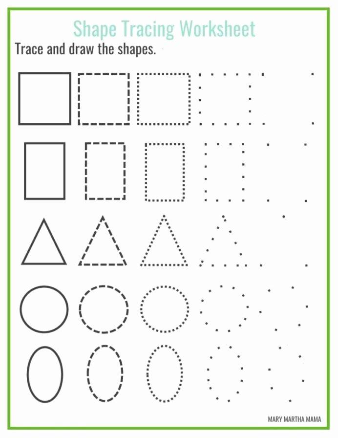 Shapes Tracing Worksheets for Preschoolers Free Shapes Worksheets for Preschool Free Printables Shape