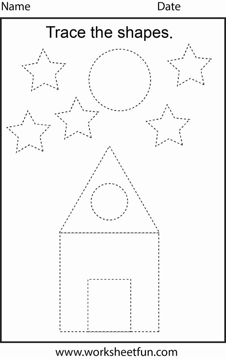 Shapes Tracing Worksheets for Preschoolers Lovely Worksheet Shape Tracing Worksheets for Print Worksheet