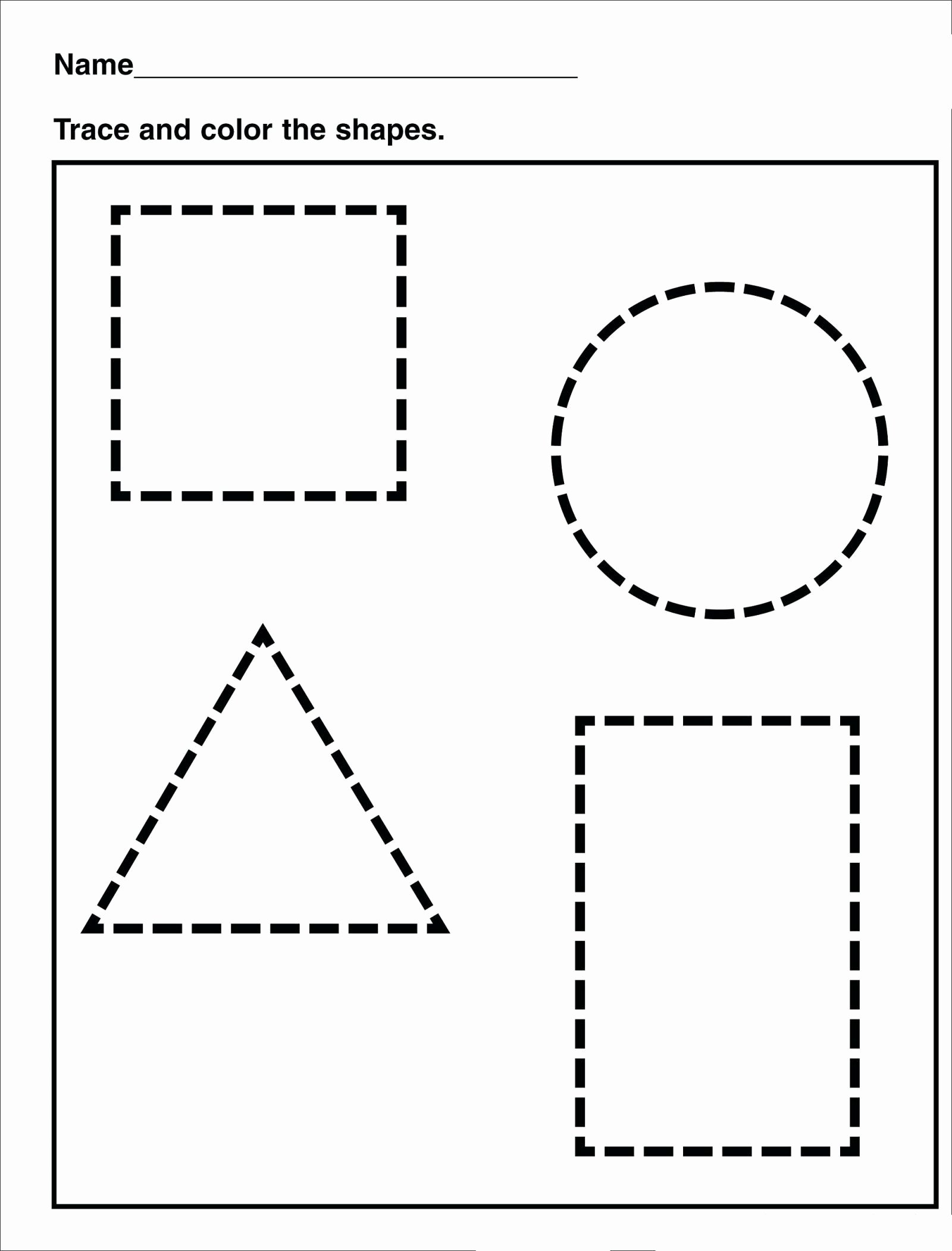 Shapes Tracing Worksheets for Preschoolers Printable Tracing Shape Tracing Preschool Free Printable