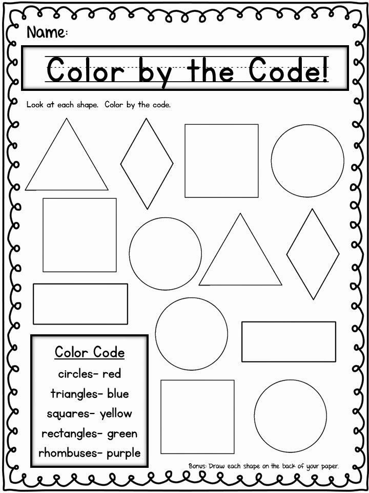 Shapes Worksheets for Preschoolers Ideas Shapes Thursday Freebie