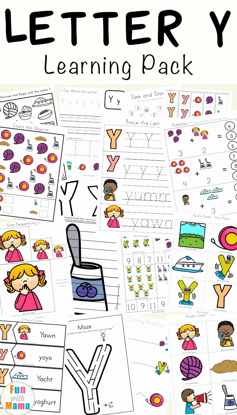 Sharing Worksheets for Preschoolers Fresh Letter Y Worksheets for Preschool Kindergarten Fun with Mama