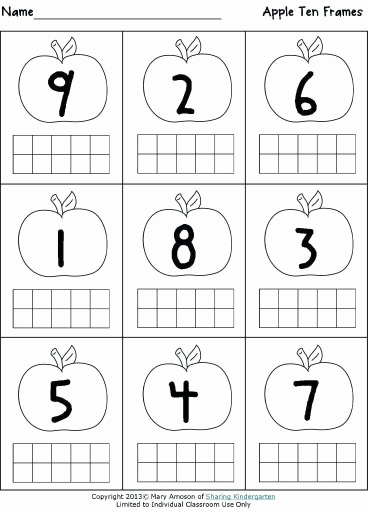 Sharing Worksheets for Preschoolers Inspirational Ten Frame Worksheets Kindergarten Siteframes Co
