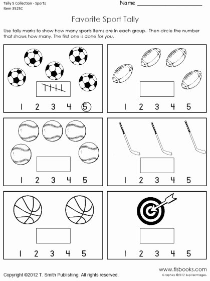Sharing Worksheets for Preschoolers top Tally Marks to 5 Worksheet Collection