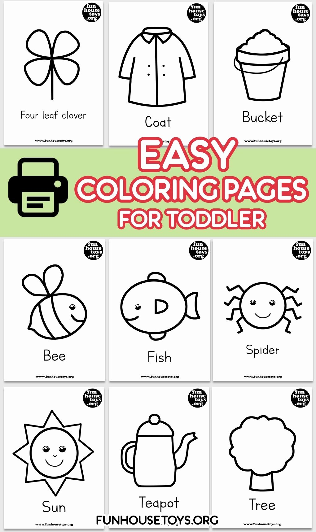 Simple Coloring Worksheets for Preschoolers Best Of Easy and Simple Coloring Pages for toddlers Age 2 Years and