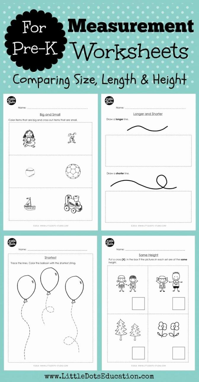 Size Comparison Worksheets for Preschoolers Ideas Math Worksheet Kindergarten Math Printable Activities Math