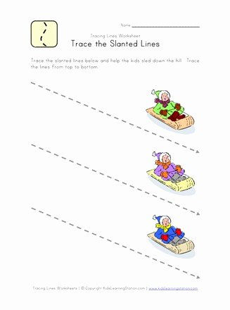 Slanting Lines Worksheets for Preschoolers Best Of Tracing Lines Worksheet