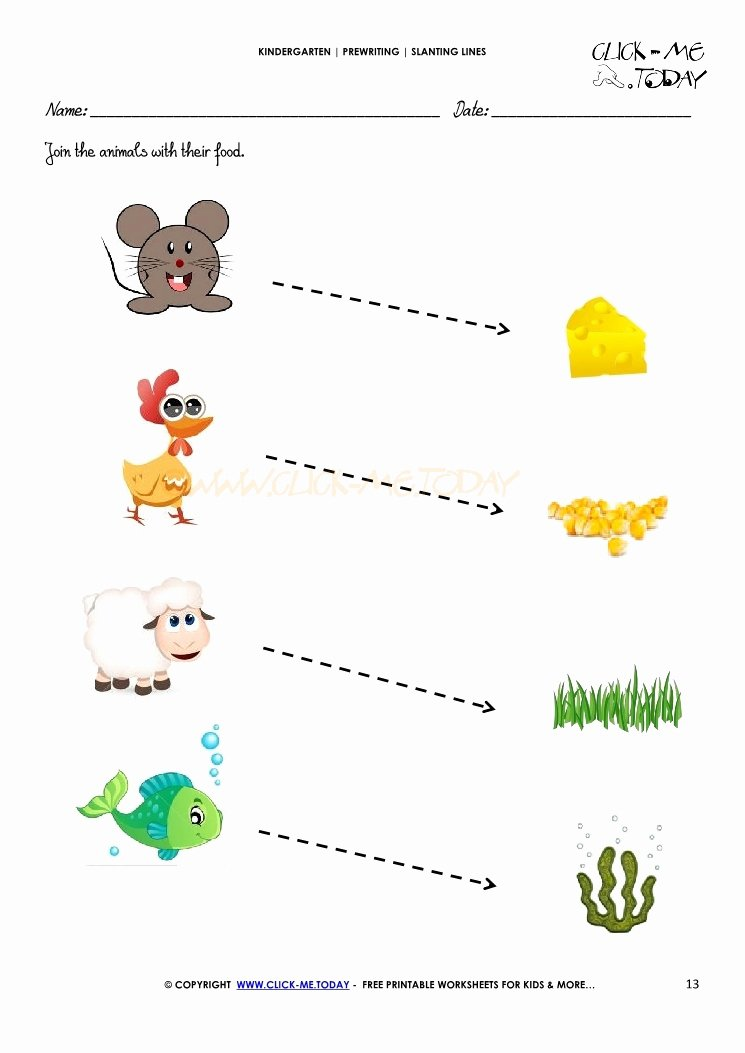 Slanting Lines Worksheets for Preschoolers Free Slanting Lines Worksheet 13