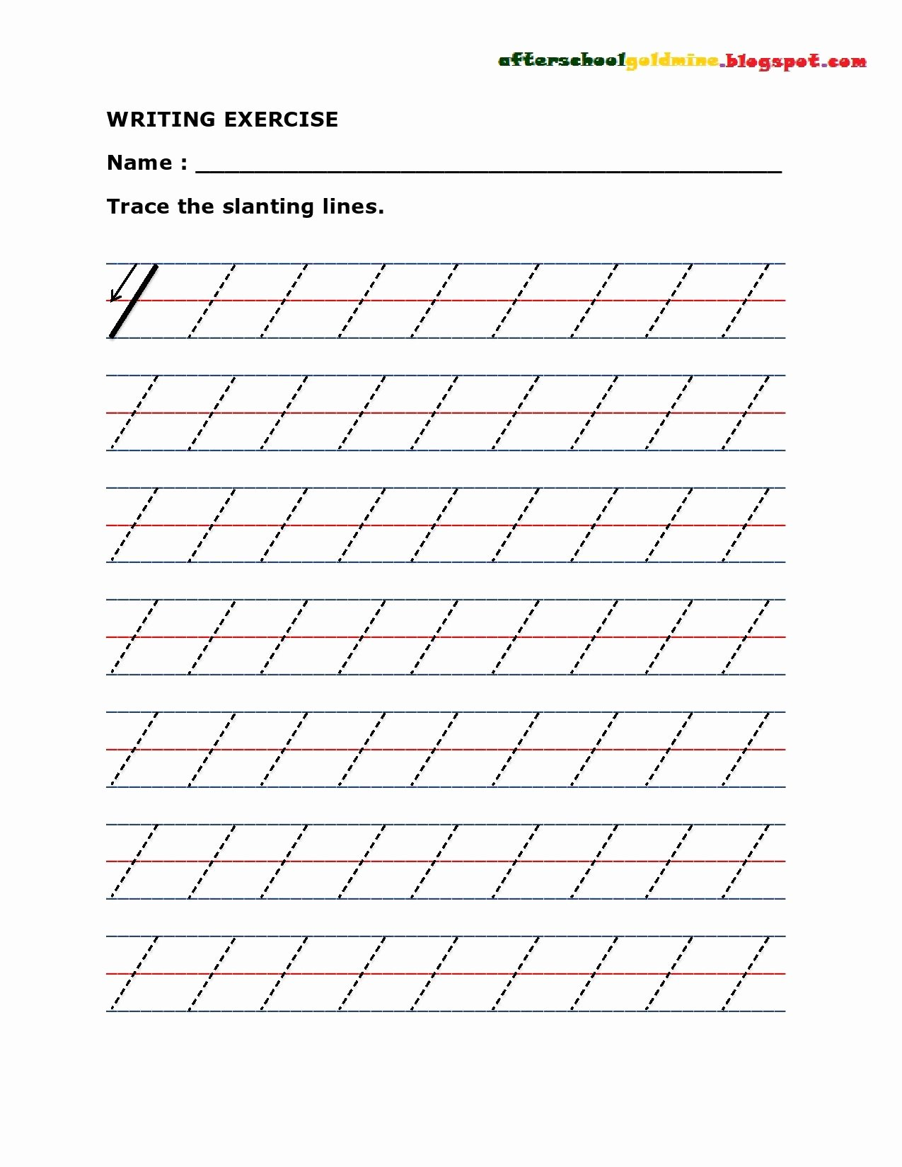 Slanting Lines Worksheets for Preschoolers Lovely Practice Writing Slanting or Diagonal Lines
