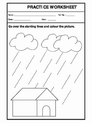 Slanting Lines Worksheets for Preschoolers New Slanting Lines
