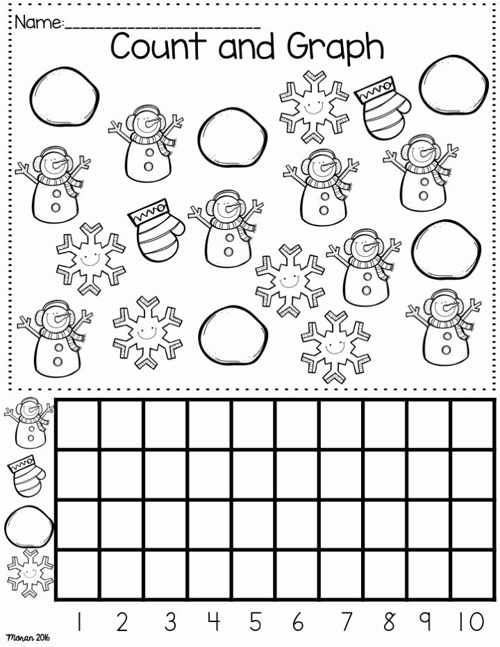 Snow Worksheets for Preschoolers Fresh Kindergarten Math and Ela Winter Worksheets