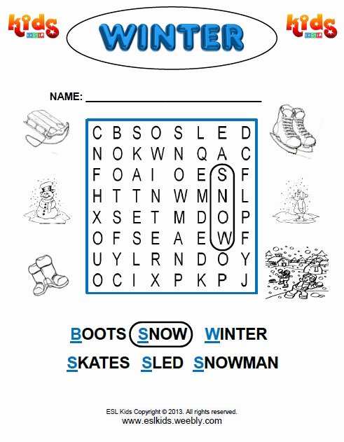 Snow Worksheets for Preschoolers Printable Winter Activities Games and Worksheets for Kids Kindergarten