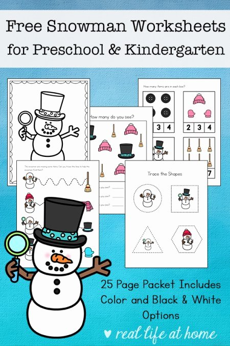 Snowman Worksheets for Preschoolers Ideas Free Snowman Worksheets for Preschool and Kindergarten Students