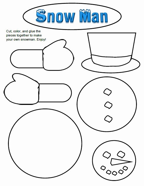 Snowman Worksheets for Preschoolers Inspirational Winter Activities Games and Worksheets for Kids