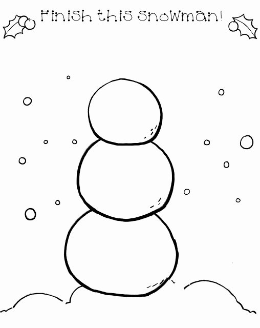 Snowman Worksheets for Preschoolers Lovely Good Morning Show Draw A Snowman
