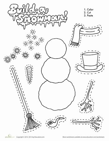 Snowman Worksheets for Preschoolers New Build A Snowman Worksheet Education