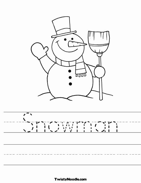 Snowman Worksheets for Preschoolers top Snowman Worksheet