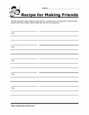 Social Skills Worksheets for Preschoolers Best Of Printable Worksheets for Kids to Help Build their social
