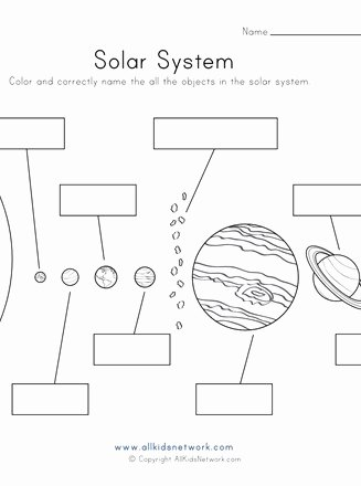 Solar System Worksheets for Preschoolers Ideas Objects Of the solar System Worksheet